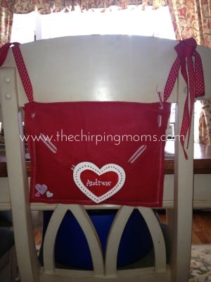 valentines chair backer