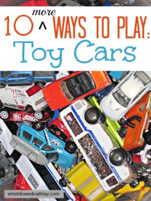 10 Ways to Play with Toy Cars 300x400 Show and Share Saturday Link Up!