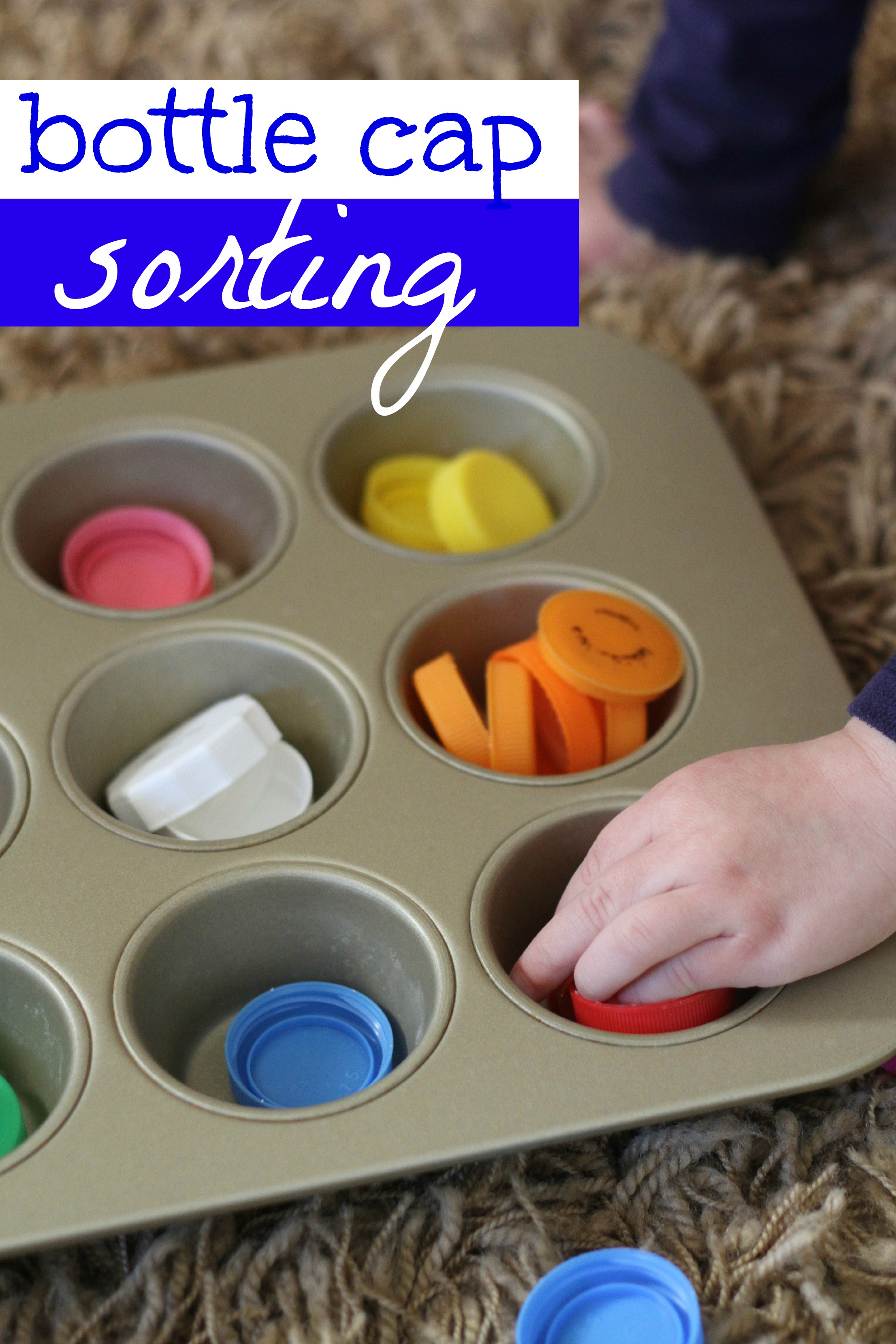 Bottle Cap Sorting - I Can Teach My Child!
