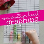 Conversation Heart Graphing 150x150 Bottle Cap Sorting