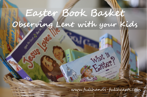 Easter Book Basket 500x332 Show and Share Saturday Link Up!