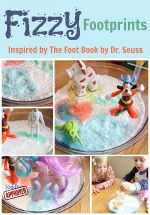 Fizzy Footprints with The Foot Book 300x428 The Ultimate List of Dr. Seuss Activities