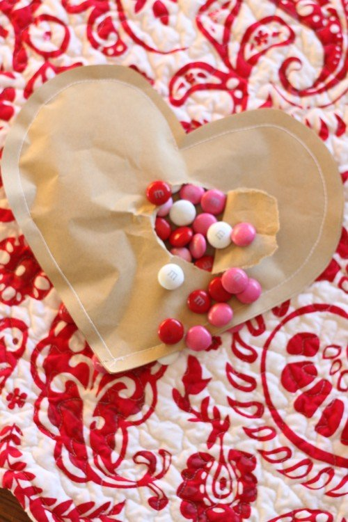 IMG 8065 500x750 Simple Brown Paper Valentines (Filled with Candy)