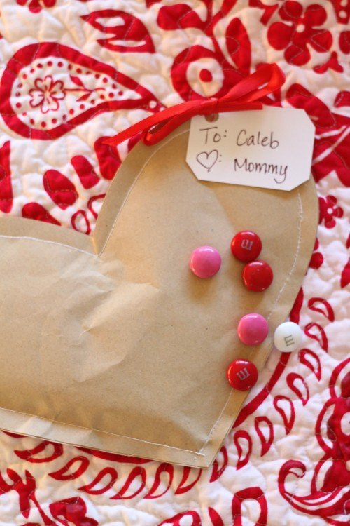 IMG 8069 500x750 Simple Brown Paper Valentines (Filled with Candy)