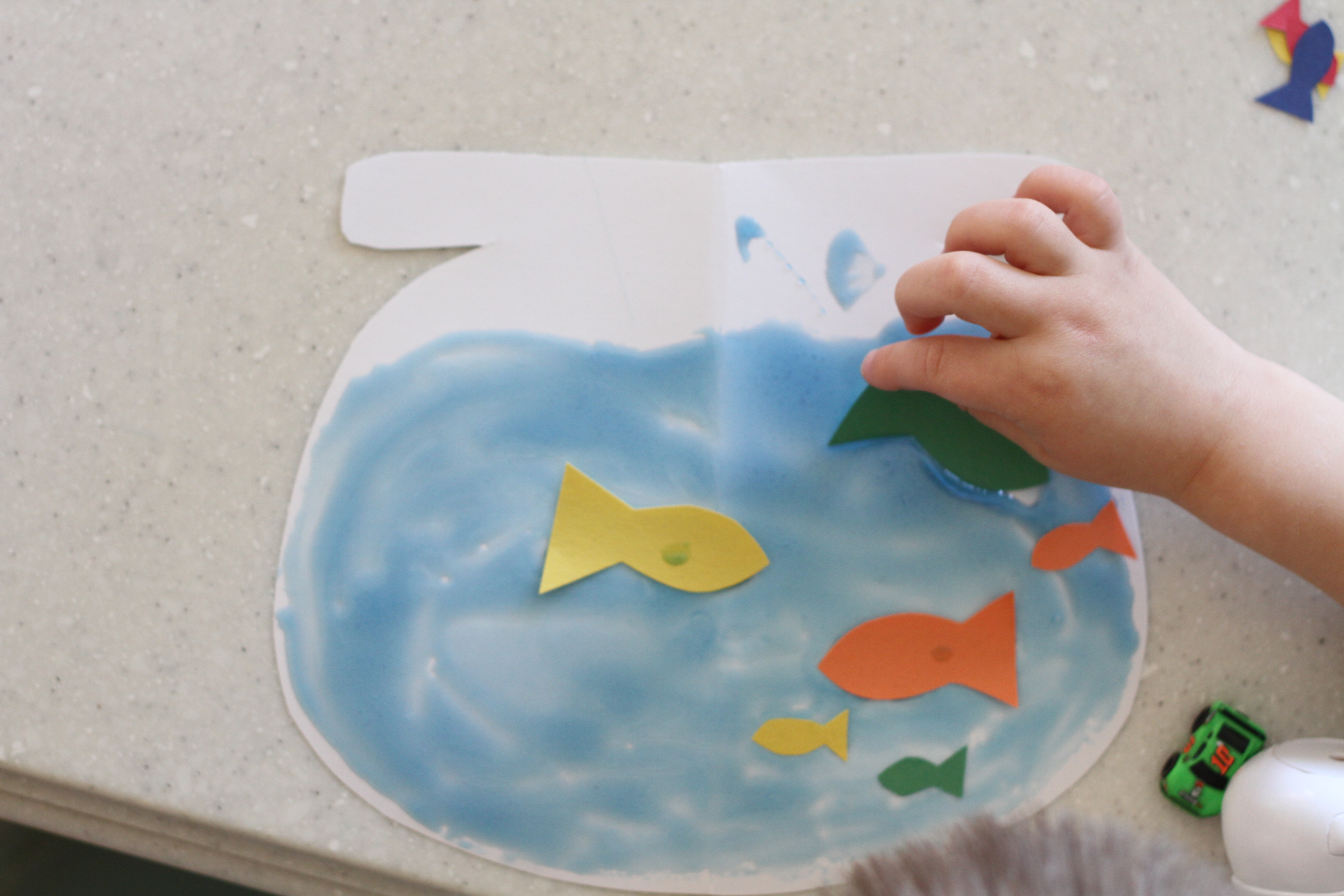 how to clean a small fish bowl without a net