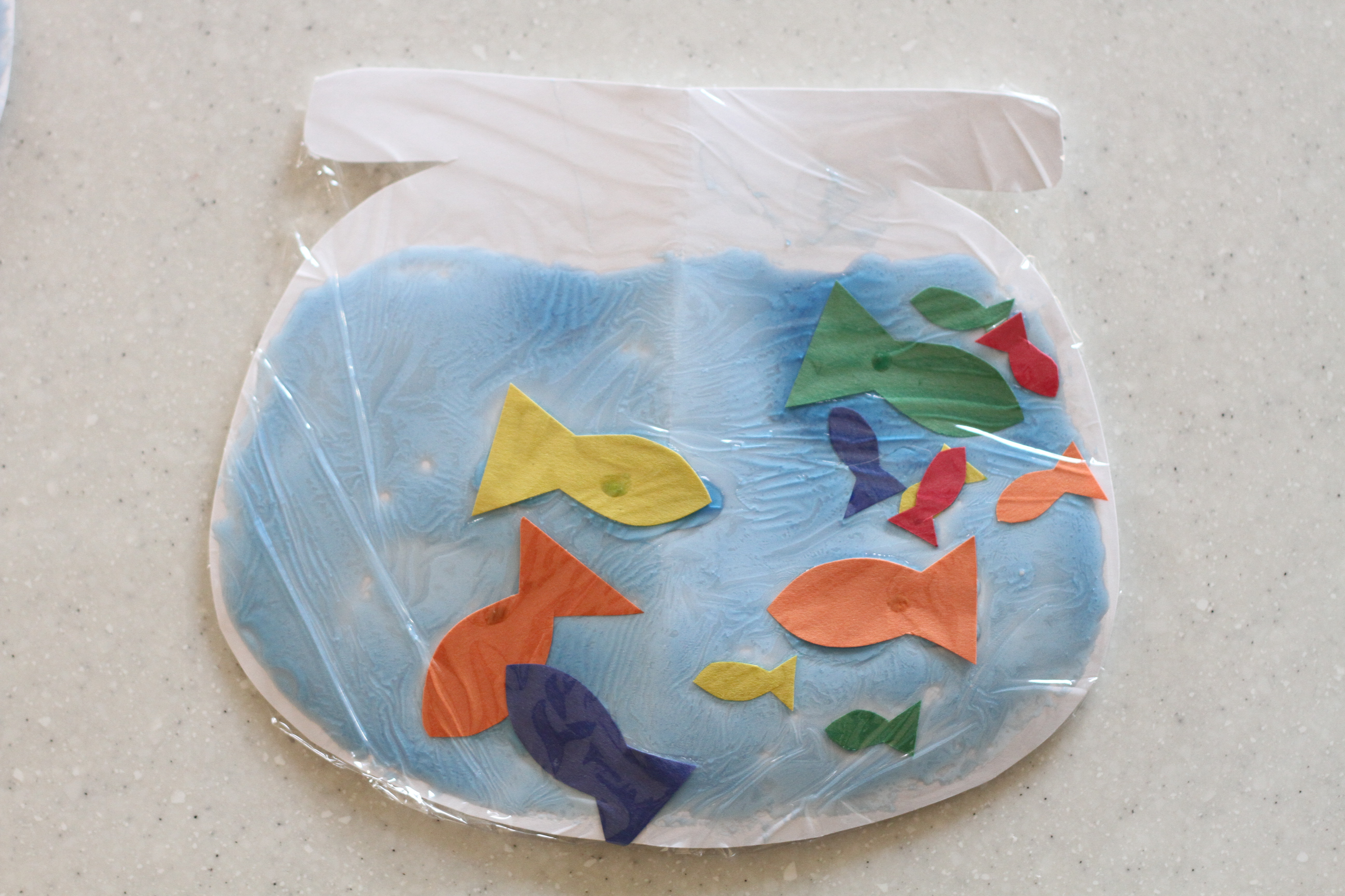 Fishbowl craft one fish two fish red fish blue fish for Red fish blue fish