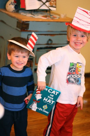 Make Your Own Cat in the Hat hats out of paper plates!