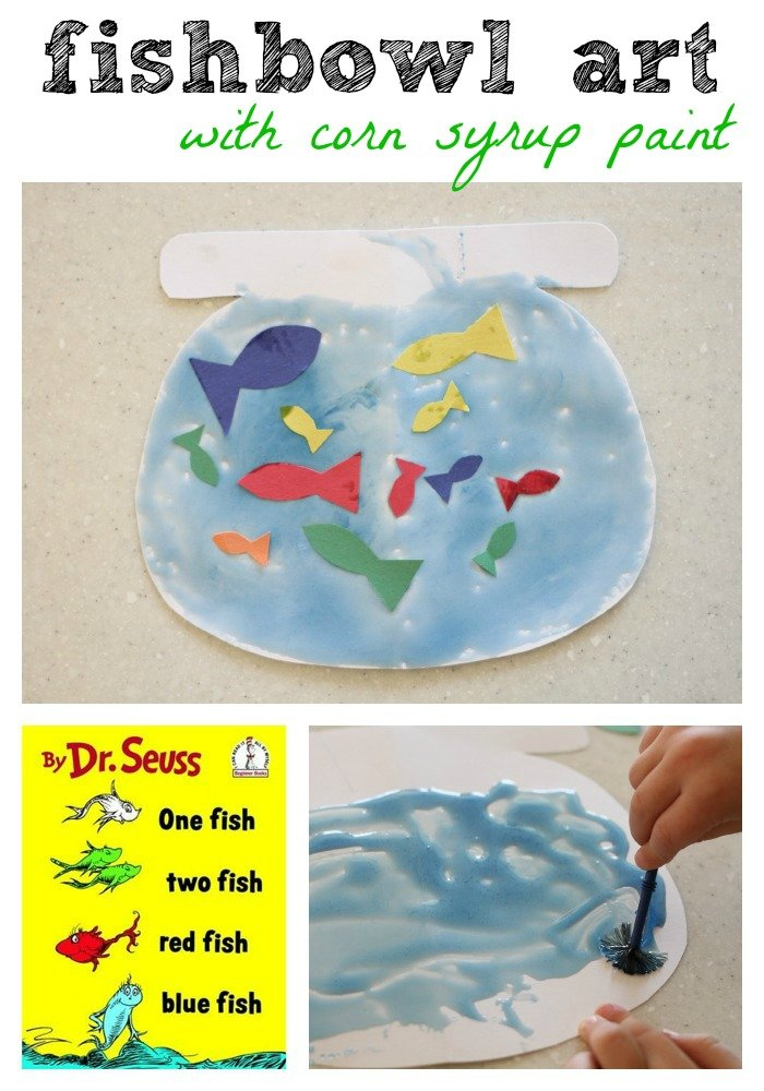 Fishbowl craft one fish two fish red fish blue fish for One fish two fish red fish blue fish activities