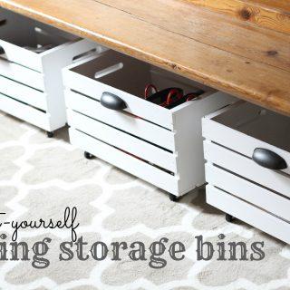 DIY Rolling Storage Bin