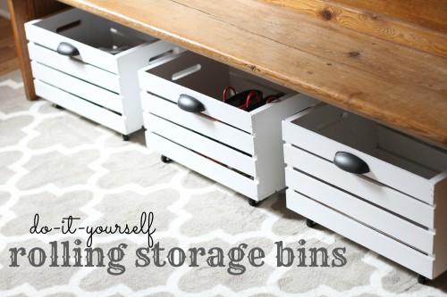 Rolling Storage Bins 500x333 DIY Rolling Storage Bin