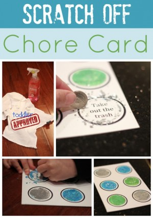 Scratch Off Chore Card