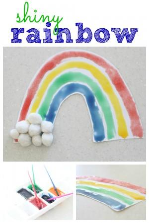Shiny Rainbow (with corn syrup paint)