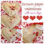 Simple Brown Paper Valentines (Filled with Candy)