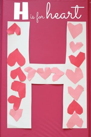 Super Simple- H is for Heart Alphabet Craft