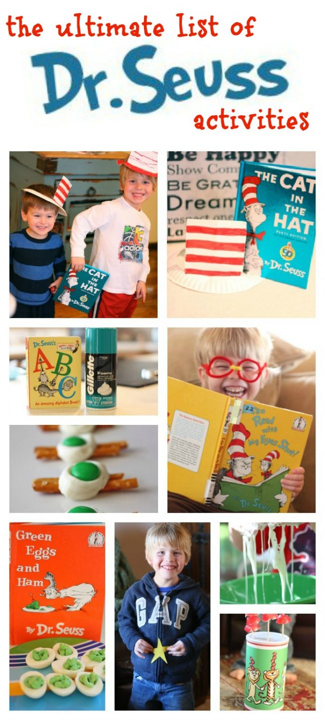 dr seuss activities with list of dr. seuss books - i can teach my child!