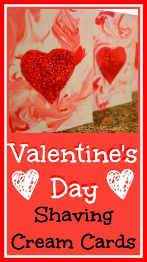 Valentines Day Shaving Cream Cards