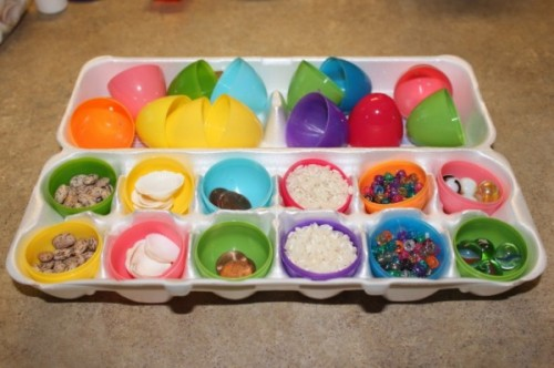 Easter Egg Shaker Match Up Game 500x332 20 Plastic Egg Activities