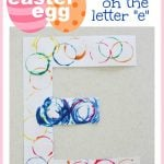 Easter Egg Stamping on the Letter E 150x150 Invisible Letters