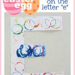 Easter Egg Stamping on the Letter E 150x150 Spin A Letter Easter Eggs