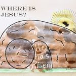 Where is Jesus? Magic Watercolor Art