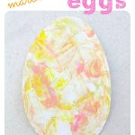 Marbled Easter Egg Painting