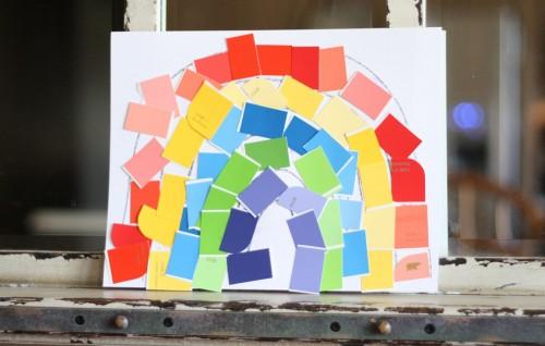 Paint Sample Rainbow