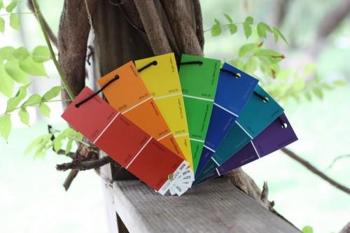 Paint Sample Rainbow Fan