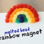 Melted Bead Rainbow Magnet