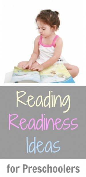 Reading Readiness Ideas for Preschoolers