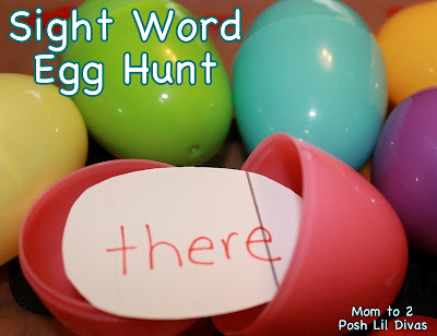 Sight Word Egg Hunt 20 Plastic Egg Activities