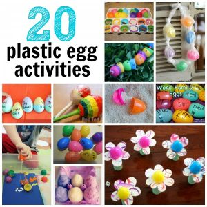20 Uses for Plastic Easter Eggs 300x300 20 Plastic Egg Activities