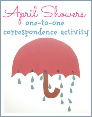 April Showers One-to-One Correspondence Activity