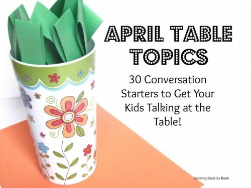 April Table Topics 500x375 Show and Share Saturday Link Up!