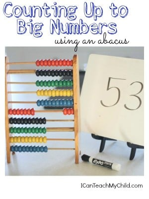 Counting Up to Big Numbers using an Abacus