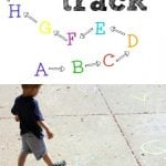 Outdoor Alphabet Track 150x150 How to Make a PVC Soccer Goal