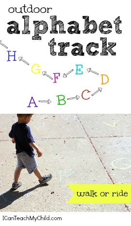 Outdoor Alphabet Track