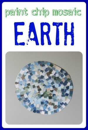 Paint Chip Mosaic Earth 300x441 Paint Chip Mosaic Earth