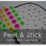Peel Stick Letter Matching Game 150x150 Show and Share Saturday Link Up!