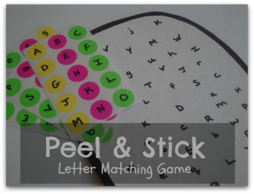 Peel & Stick Letter Matching Game