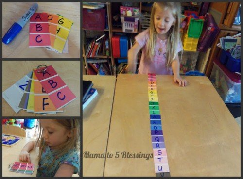 ABC Order with Paint Chips