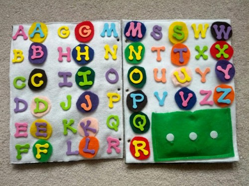 ABC Quiet Book Page 500x375 Show and Share Saturday Link Up!