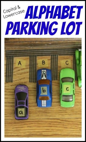 Capital Lowercase Alphabet Parking Lot 300x492 Alphabet Parking Lot:  Matching Capital and Lowercase Letters