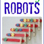Counting Robots 150x150 Simple Balloon Shaped Homemade Matching Games