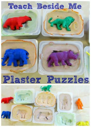 DIY plaster puzzles 300x420 Show and Share Saturday Link Up!