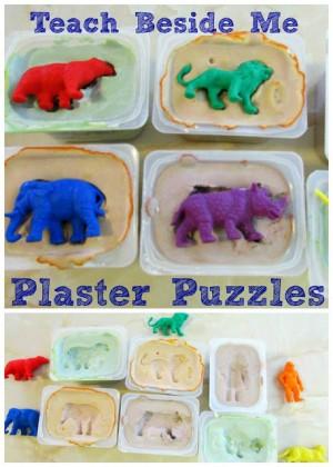 DIY plaster puzzles