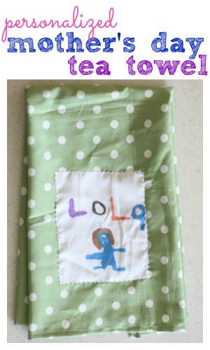 Personalized Mother's Day Tea Towel
