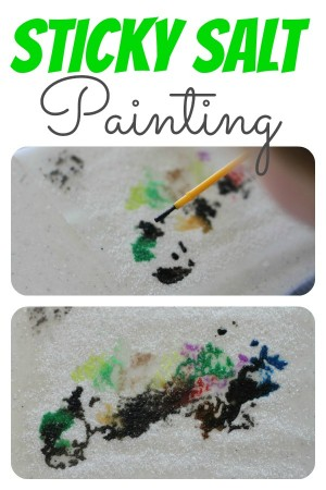 Sticky Salt Painting