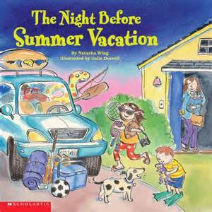 The Night before Summer Vacation Books about Road Trips