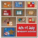 4th of July Montessori trays Gift of Curiosity 150x150 Show and Share Saturday Link Up!