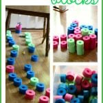 DIY Quiet Blocks 150x150 Back to School Crayon Wreath